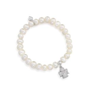 4929d2770680c0 outlet. Bracciale angelo con zirconi e perle AG925 ...