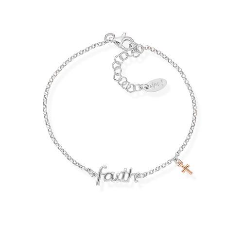 Bracciale Faith e Charm Croce Rosè