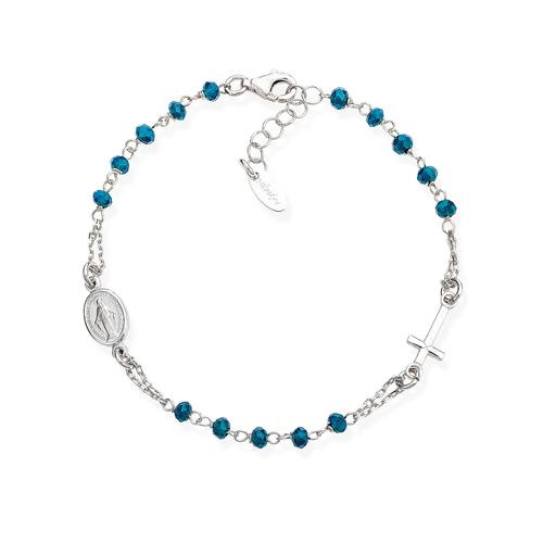 Bracciale Rosario Cristalli Blu