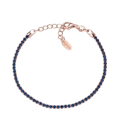 Bracciale Tennis Rosè Zirconi Blu