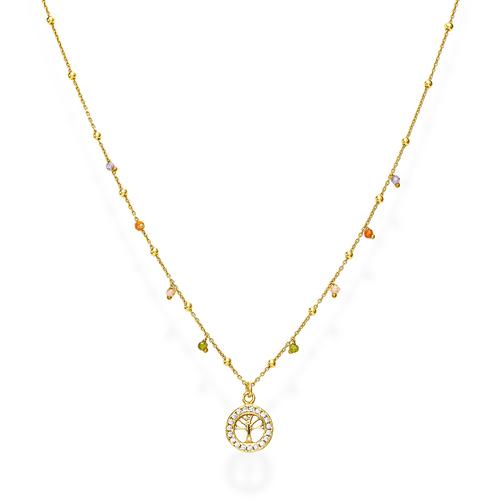 Collana Albero della Vita e Cristalli Multicolor
