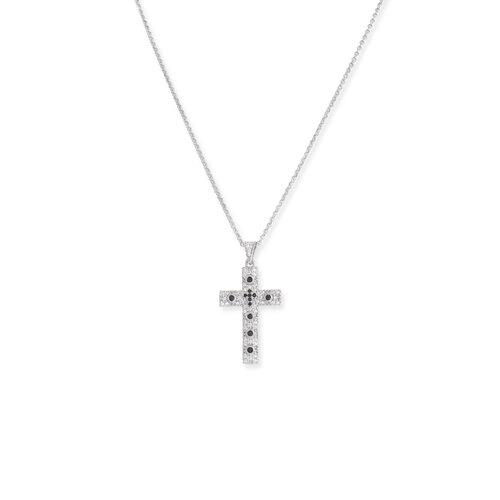 Collana Croce Zirconi