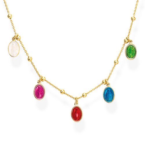Collana Madonnine Smaltate Multicolor