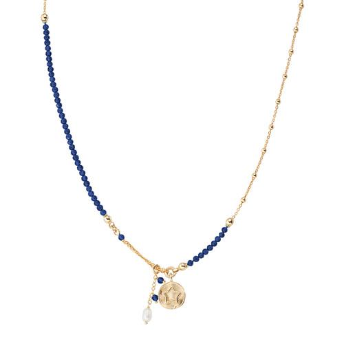 Collana Medaglia Stella e Perla