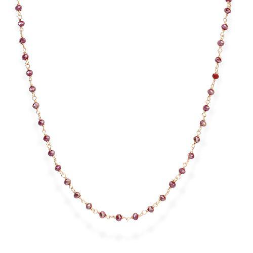 Collana Rosè e Cristalli Amaranto 90cm