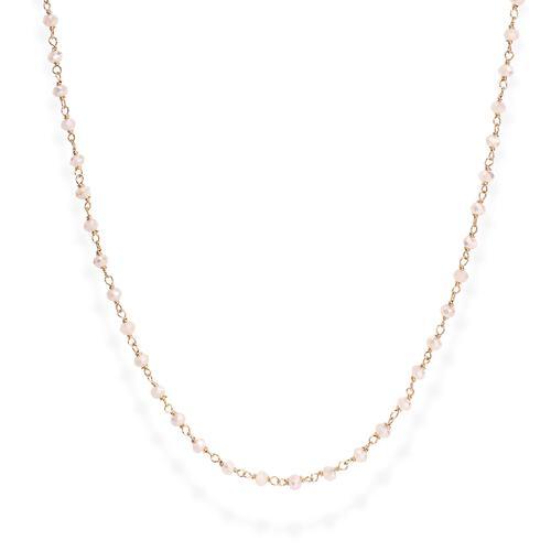 Collana Rosè e Cristalli Rosa 45cm