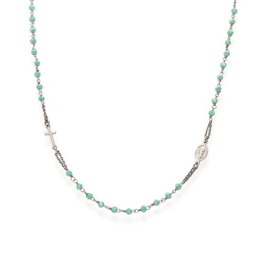 Collana Rosario girocollo Cristalli Tiffany