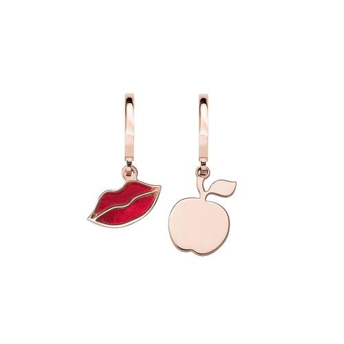 Orecchini Bacio e Mela Rosè