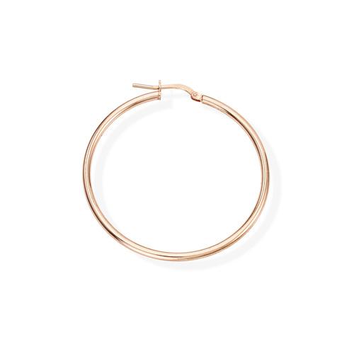 Orecchini Cerchio 4 cm Rosè