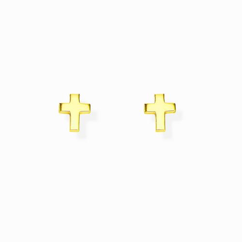 Orecchini Croce Bombata Dorata