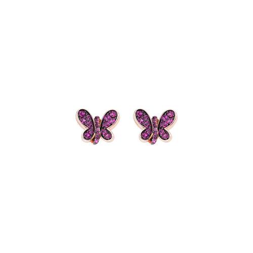 Orecchini Rosè Farfalla Zirconi Rubino