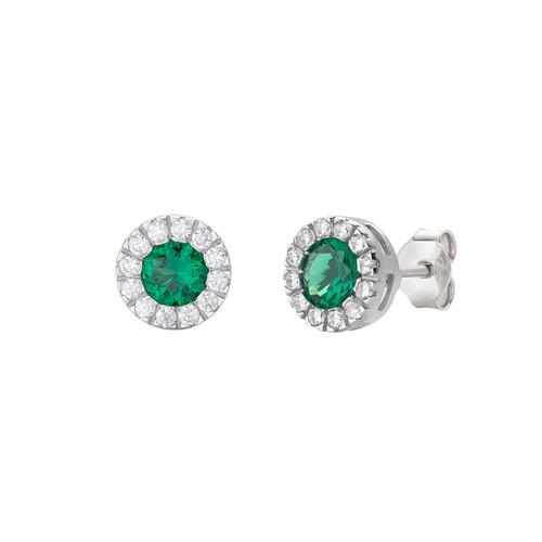 Orecchini Royal Zirconi Verde e Bianchi